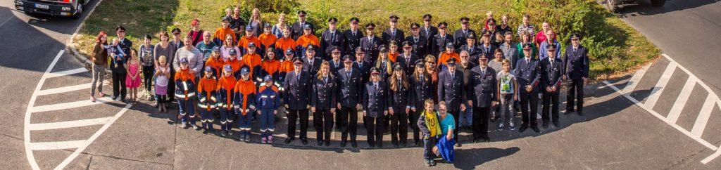 Mitglieder Förderverein, Jugendfeuerwehr, Freiwillige Feuerwehr + Ehrenabteilung