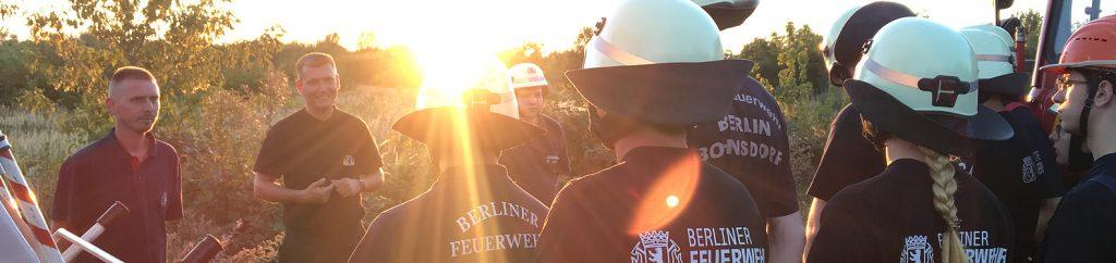 Die Mannschaft der FF Bohnsdorf bei einer Übung