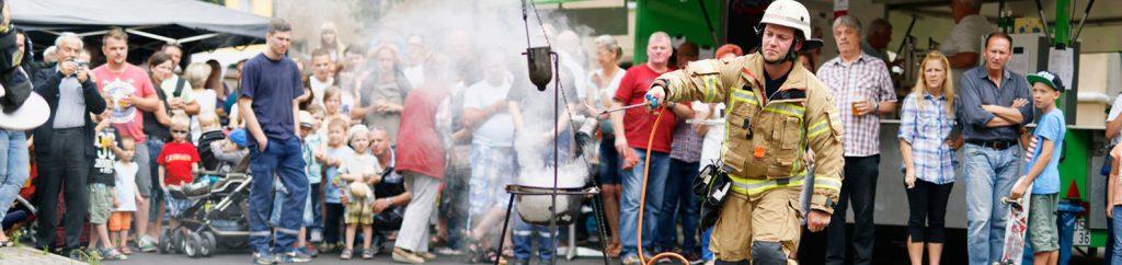 Fettexplosion beim Tag der offenen Tür der Freiwilligen Feuerwehr Bohnsdorf