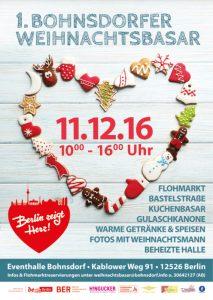 Plakat Weihnachtsbasar in der Festhalle Bohnsdorf2016